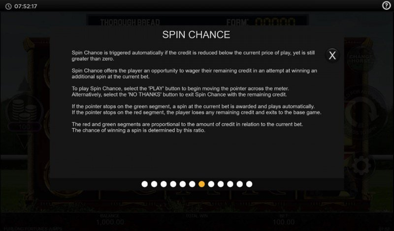 Furlong Fortunes Jumps :: Spin Chance Rules