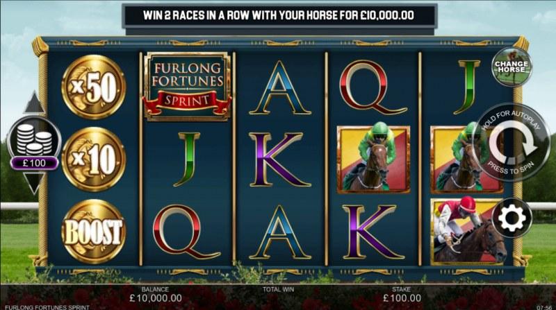 Furlong Fortunes Sprint :: Base Game Screen