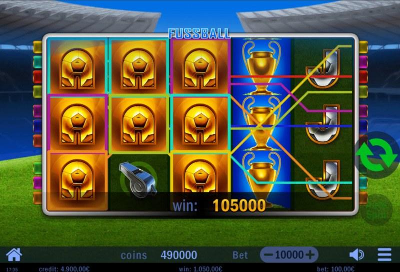Fussball :: Multiple winning paylines