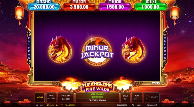 Fuzanglong Fire Wilds :: Choose a dragon to win an instant prize