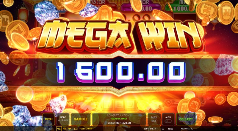 Fuzanglong Fire Wilds :: Total Feature Payout