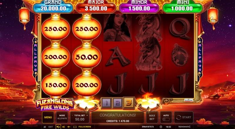 Fuzanglong Fire Wilds :: Lucky Lantern Feature