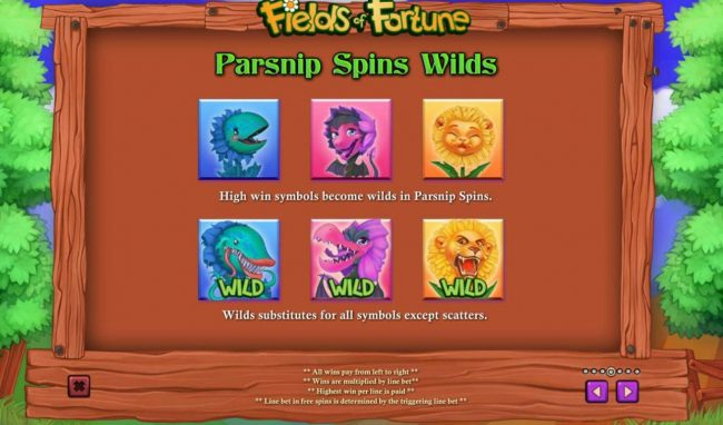 Parsnip Spins Wilds