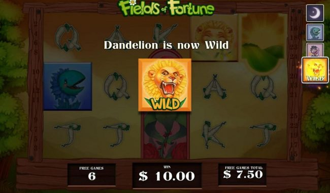 Videoslots featuring the Video Slots Fields of Fortune with a maximum payout of $5,000
