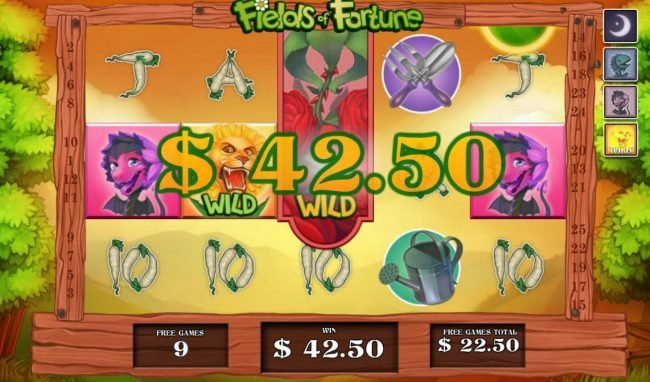 Slots Heaven featuring the Video Slots Fields of Fortune with a maximum payout of $5,000