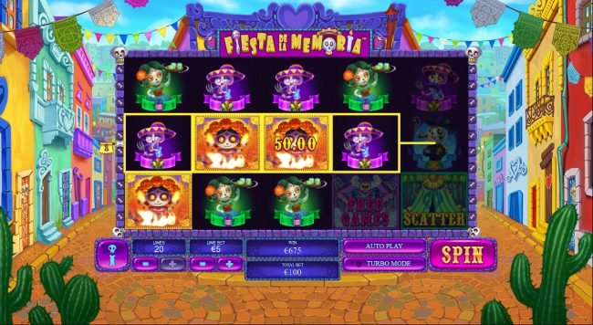 Unleashed featuring the Video Slots Fiesta De La Memoria with a maximum payout of $250,000