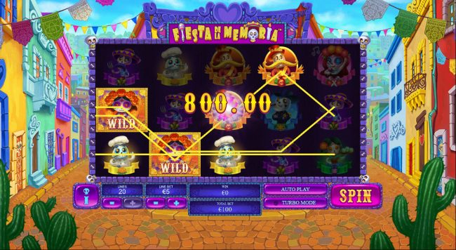 Mr Play featuring the Video Slots Fiesta De La Memoria with a maximum payout of $250,000