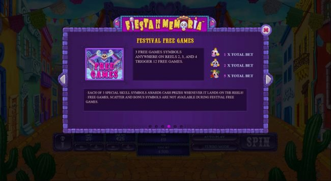 Casino King featuring the Video Slots Fiesta De La Memoria with a maximum payout of $250,000
