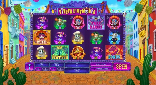 Magic Box featuring the Video Slots Fiesta De La Memoria with a maximum payout of $250,000