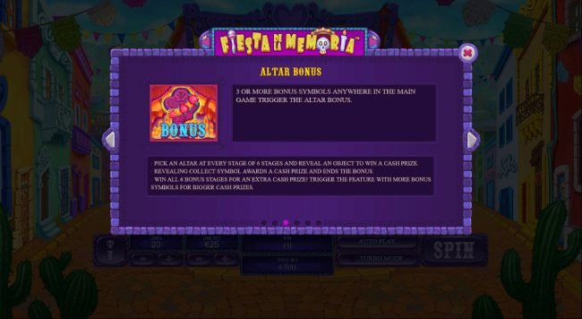 Fiesta De La Memoria :: Bonus Game Rules