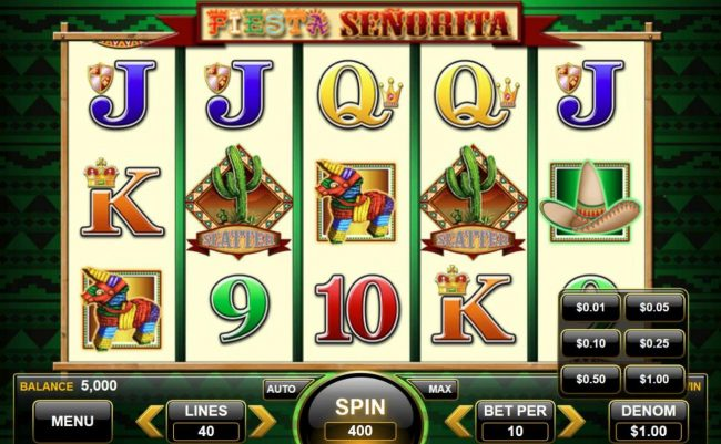 Fiesta Senorita :: Click the BET button to adjust the stake level