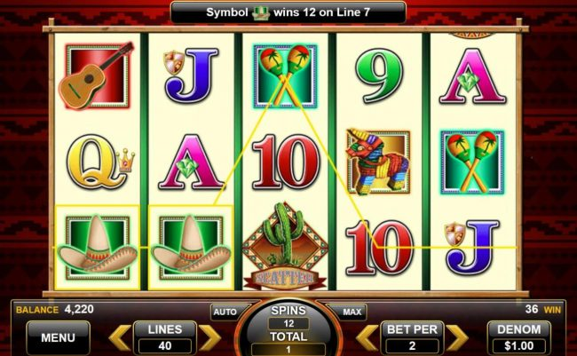 Fiesta Senorita :: Free Spins Game Board