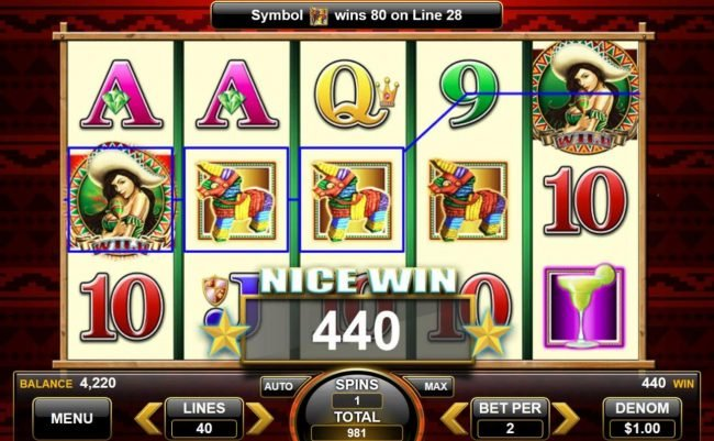 Fiesta Senorita :: 440 coin big win