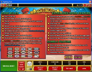 Casino Classic featuring the Video Slots Fighting Fish with a maximum payout of $12,500