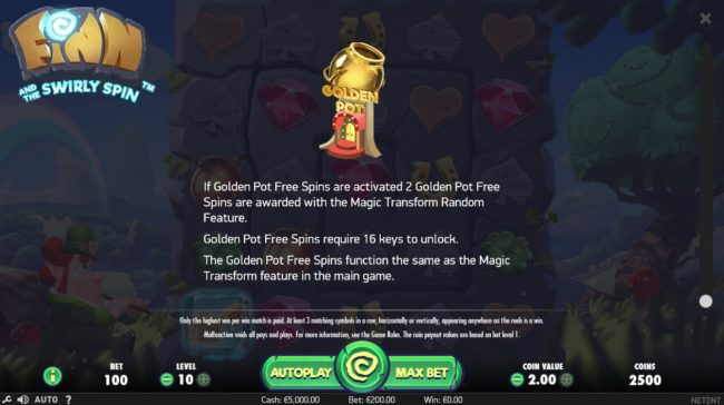 Winzino featuring the Video Slots Finn and the Swirly Spin with a maximum payout of $5,000