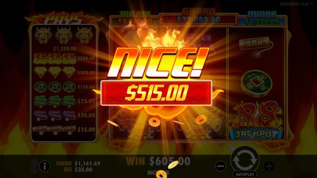 Spin Hill featuring the Video Slots Fire 88 with a maximum payout of Jackpot