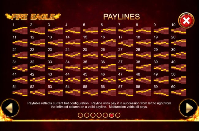 Paylines 1-60