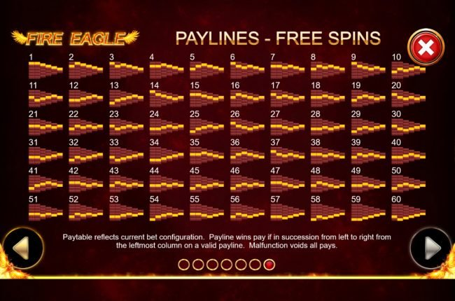 Free Spins - Paylines 1-60