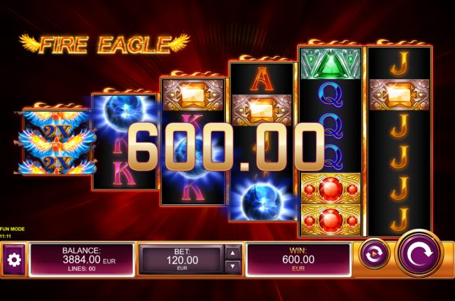 Fire Eagle :: Scatter win triggers the free spins feature
