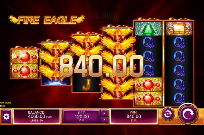 Fire Eagle :: Multiple winning paylines triggers a big win