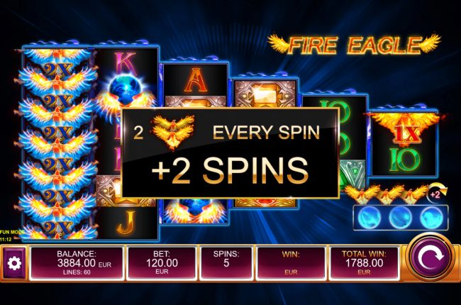 An additional 2 free spins awarded