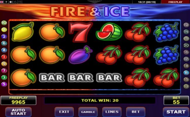 Play slots at iLucki: iLucki featuring the Video Slots Fire & Ice with a maximum payout of $12,500