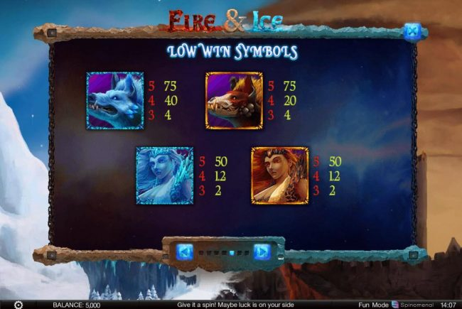 CryptoWild featuring the Video Slots Fire & Ice with a maximum payout of $200,000