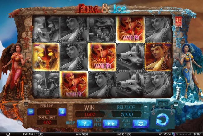Argo featuring the Video Slots Fire & Ice with a maximum payout of $200,000