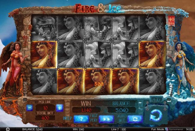888 Tiger featuring the Video Slots Fire & Ice with a maximum payout of $200,000
