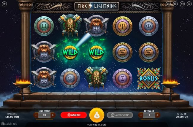 Play slots at CryptoWild: CryptoWild featuring the Video Slots Fire Lightning with a maximum payout of $50,000