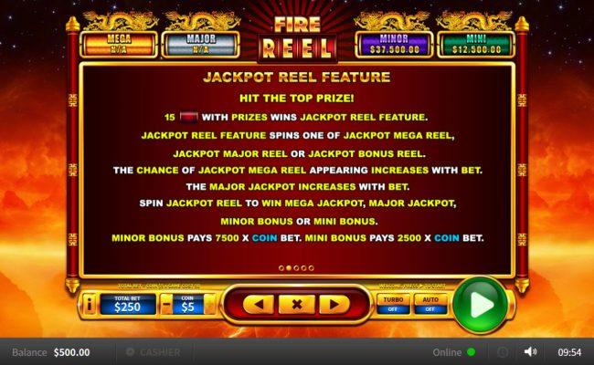 Fire Reel :: Jackpot Rules