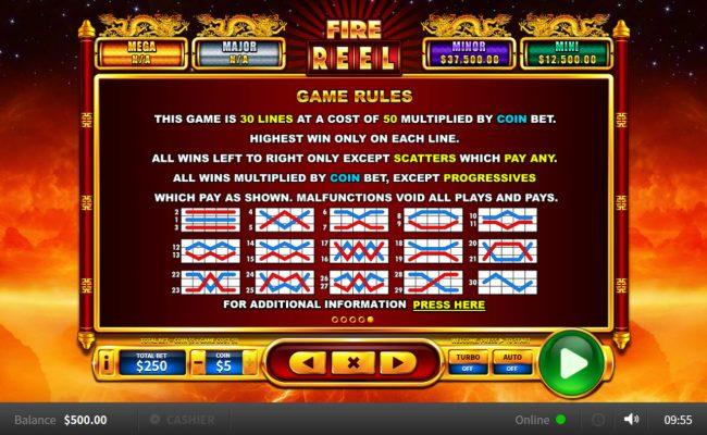 Fire Reel :: Paylines 1-30