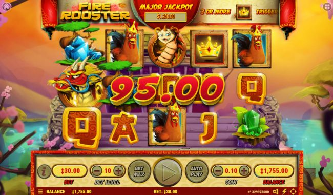 Play slots at Rich Casino: Rich Casino featuring the Video Slots Fire Rooster with a maximum payout of $2,500,000