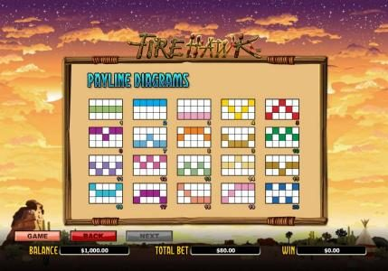 ZigZag777 featuring the Video Slots Fire Hawk with a maximum payout of $24,000