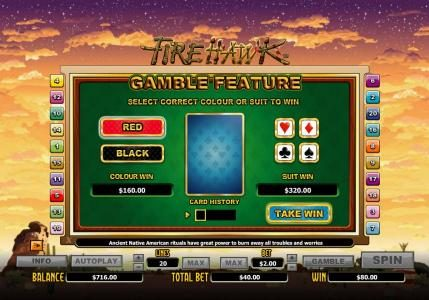 ReelTastic featuring the Video Slots Fire Hawk with a maximum payout of $24,000