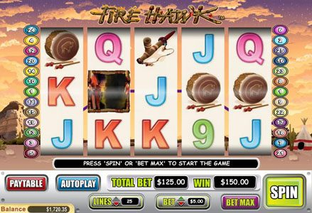 Intertops Classic featuring the Video Slots Fire Hawk with a maximum payout of $60,000