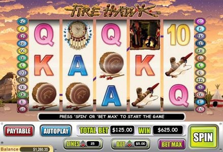 Play slots at Lincoln: Lincoln featuring the Video Slots Fire Hawk with a maximum payout of $60,000