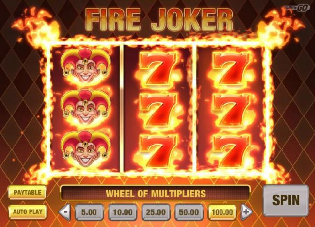 Play slots at Slotty Vegas: Slotty Vegas featuring the Video Slots Fire Joker with a maximum payout of $16,000