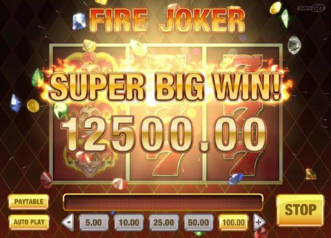 Fire Joker :: Wheel of Multipliers leads to a 12500.00 Super Big Win