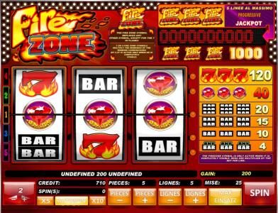 fire zone is a 3 reel online slot machine with a maximum. Black Bedroom Furniture Sets. Home Design Ideas