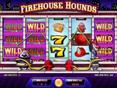 Vera&John featuring the Video Slots Firehouse Hounds with a maximum payout of $250,000