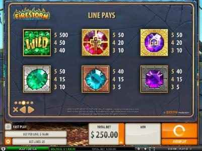 Amsterdam Casino featuring the Video Slots Firestorm with a maximum payout of $125,000