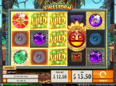 Intercasino featuring the Video Slots Firestorm with a maximum payout of $125,000