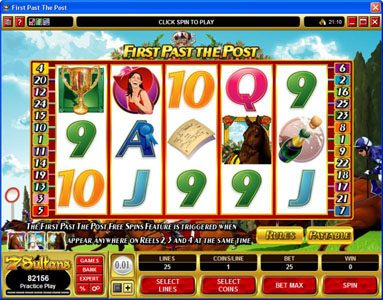 Play slots at Fortune Junction: Fortune Junction featuring the Video Slots First Past The Post with a maximum payout of $10,000