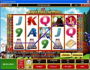 Villento featuring the Video Slots First Past The Post with a maximum payout of $10,000