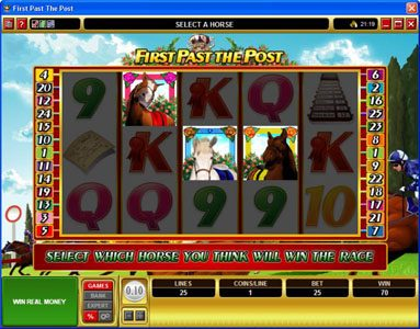 Rich Reels featuring the Video Slots First Past The Post with a maximum payout of $10,000