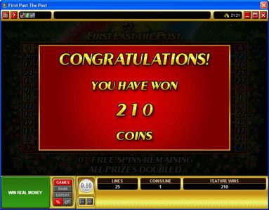 Aztec Ritces featuring the Video Slots First Past The Post with a maximum payout of $10,000