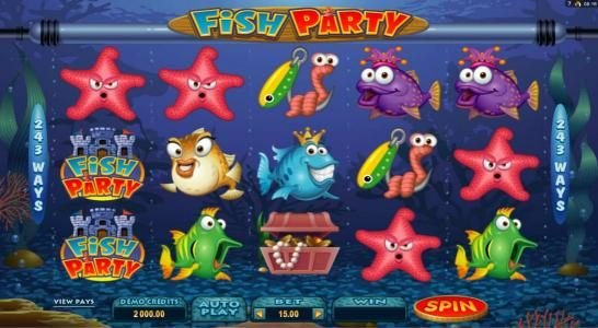 Villento featuring the Video Slots Fish Party with a maximum payout of $388,000
