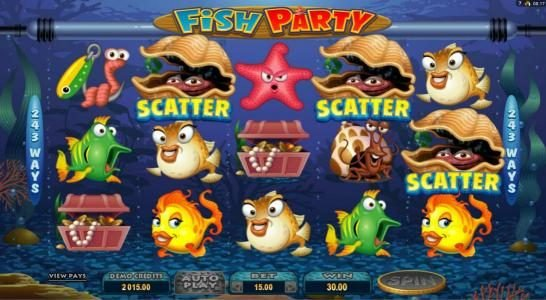 Yukon Gold featuring the Video Slots Fish Party with a maximum payout of $388,000