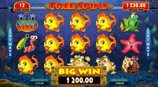 Lucky247 featuring the Video Slots Fish Party with a maximum payout of $388,000